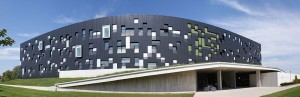 Panoramic Image of the Perimeter Institute in Waterloo, Ontario. Image credit: Giligone.